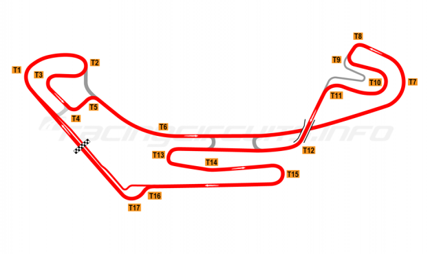 Map of Everland Speedway, 2011 to date