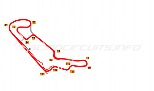 Map of Everland Speedway, Full circuit 1995-2008