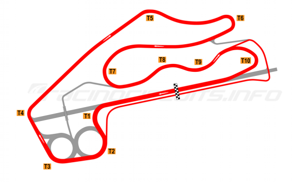 Map of Fort Grozny Autodrom, 2015 to date
