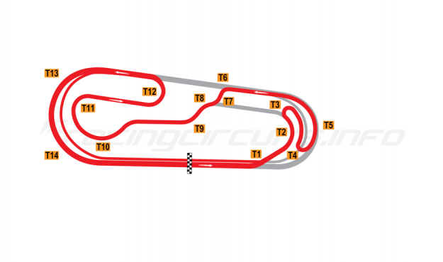 Map of World Wide Technology Raceway at Gateway, Road course 2 2019 to date