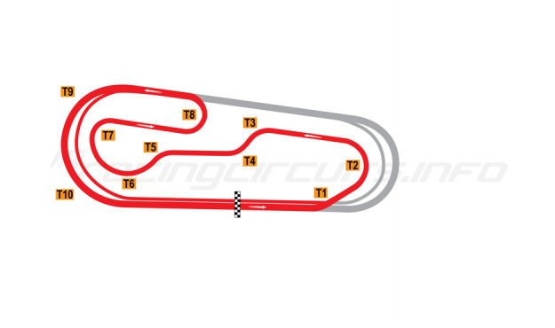 Map of Gateway Motorsports Park, Road course 1997 to date