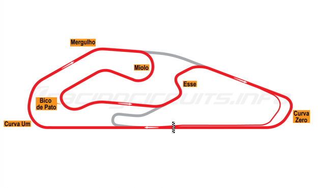 Map of Goiânia, Mixed Circuit 2014 to date