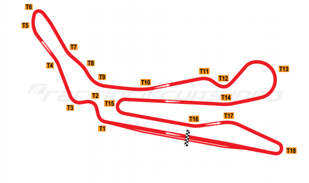 Map of Guadix, Main circuit 2002-03