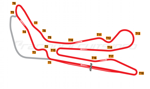 Map of Guadix, Main circuit 2004-2007