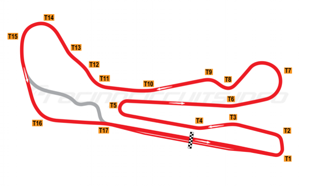 Map of Guadix, Alternative circuit reverse 2011 to date