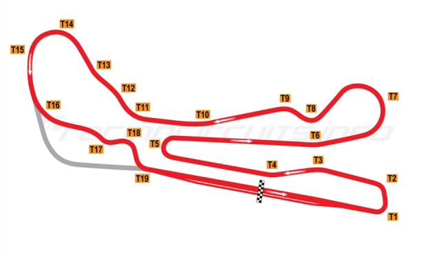Map of Guadix, Main circuit reverse 2011 to date