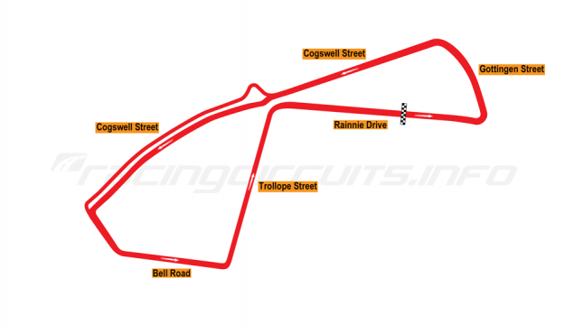 Map of Halifax Citadel Hill, Street Circuit 1992-93