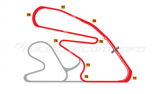 Map of Hampton Downs, National Circuit 2016 to date