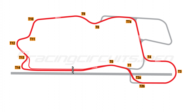 Map of Heartland Park Topeka, Modified NASCAR Circuit A 2008 to date