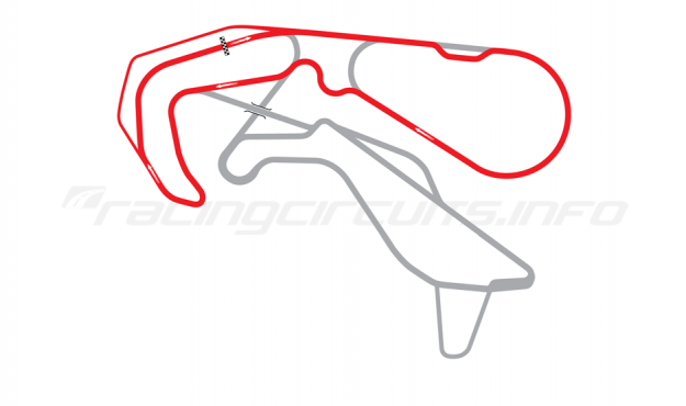Map of Highlands Motorsport Park, 'D' Course 2013 to date
