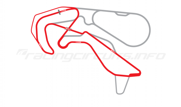 Map of Highlands Motorsport Park, 'E' Course 2013 to date