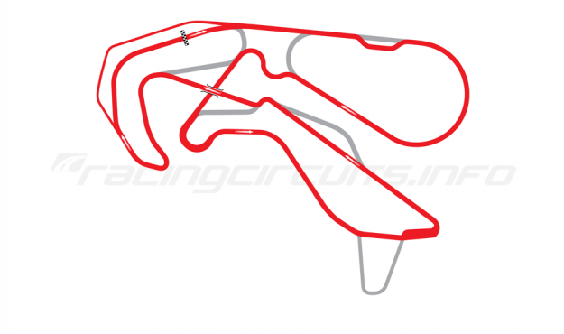 Map of Highlands Motorsport Park, 2013 to date
