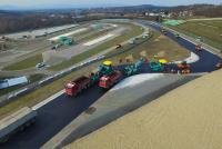 Resurfacing work under way at the Hungaroring