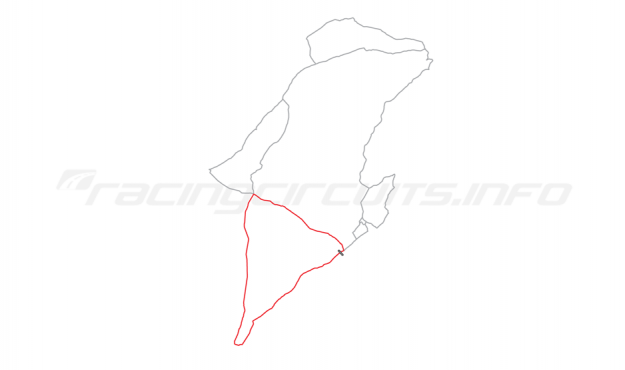 Map of IOM Mountain Course, Relative positions of circuits 1905