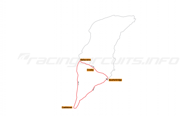 Map of IOM Mountain Course, Auto-Cycle Circuit 1906
