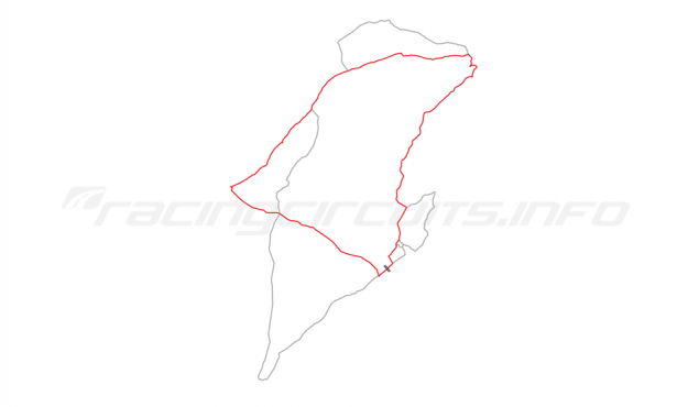 Map of IOM Mountain Course, Relative positions of circuits 1907