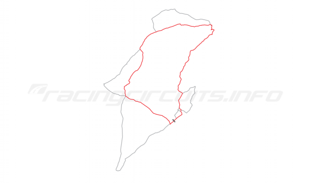 Map of IOM Mountain Course, Relative positions of circuits 1911-14
