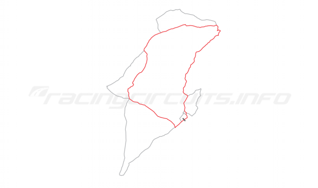 Map of IOM Mountain Course, Relative positions of circuits 1960 to date
