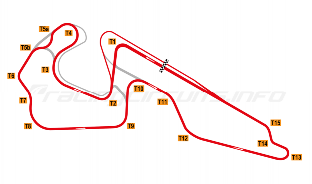 Map of Igora Drive, Full circuit with chicane 2019 onwards