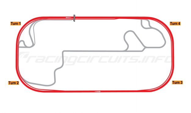 Map of Indianapolis Motor Speedway, 2014 to date
