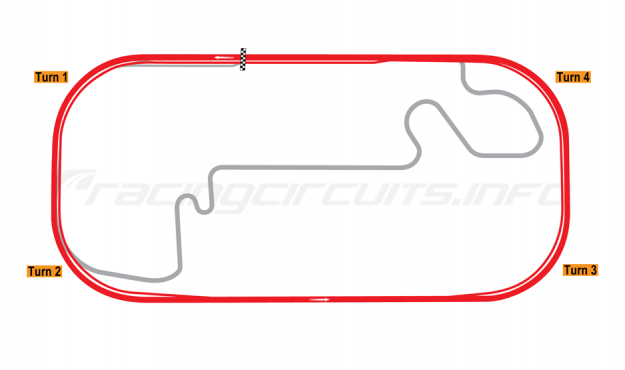 Map of Indianapolis Motor Speedway, Oval 2000-07