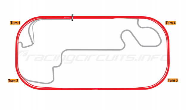 Map of Indianapolis Motor Speedway, Oval 2008-13