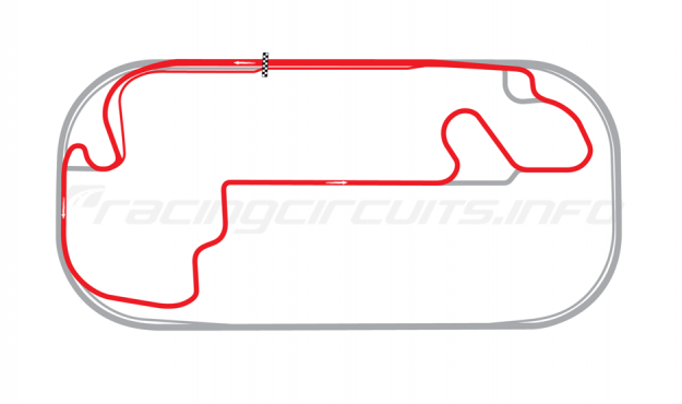 Map of Indianapolis Motor Speedway, Motorcycle Road Course 2014 to date