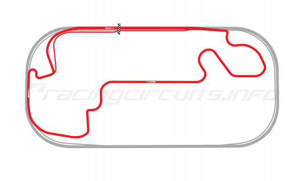 Map of Indianapolis Motor Speedway, Motorcycle Road Course 2008-13