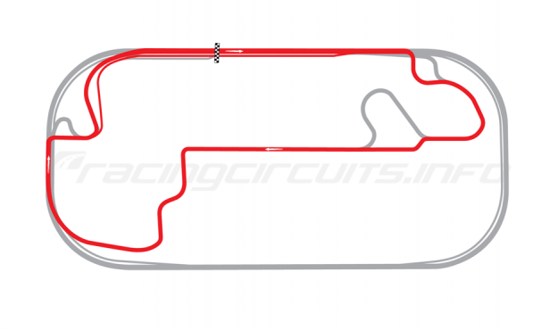 Map of Indianapolis Motor Speedway, Road Course 2014 to date