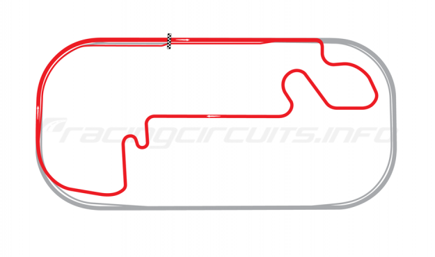Map of Indianapolis Motor Speedway, Road Course 2000-07