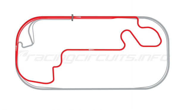 Map of Indianapolis Motor Speedway, Road Course 2008-13