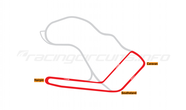Map of Ingliston, Supercars Circuit 2012-14