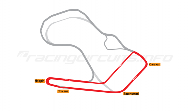 Map of Ingliston, Supercars Circuit 2015 to date