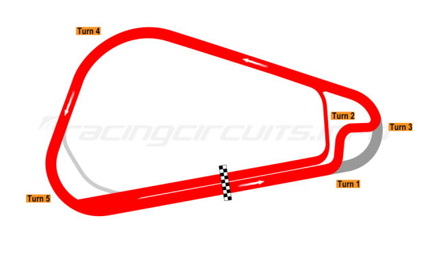 Map of Cajititlán, Tri-oval with chicane 2016 to date