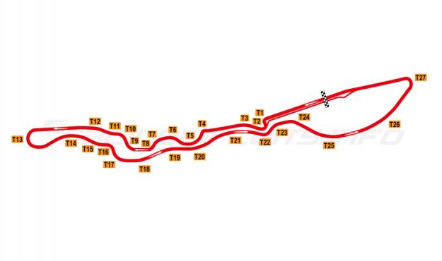 Mapa del circuito urbano de Jeddah, 2021 en adelante