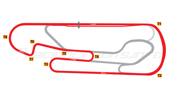 Map of San Martín, Jorge Ángel Pena, Exterior circuit 2012 to date