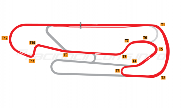Map of San Martín, Jorge Ángel Pena, Intermediate circuit 2012 to date