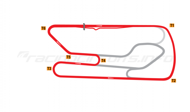 Map of San Martín, Jorge Ángel Pena, Exterior circuit 2006-2011