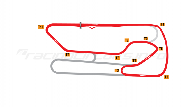 Map of San Martín, Jorge Ángel Pena, Intermediate circuit 2006-2011