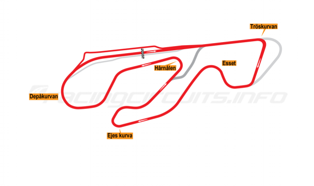 Map of Karlskoga, Grand Prix Circuit 2006-2013