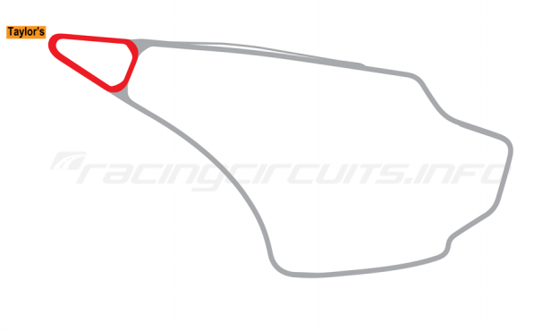 Map of Knockhill, Tri-Oval Circuit 1974 to date