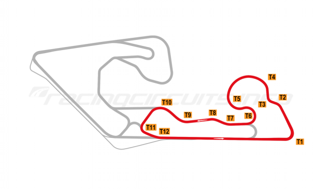 Map of Kuwait Motor Town, North Circuit 2019 to date