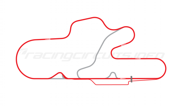 Map of La Plata, Full circuit + 1 chicane 2005 to date