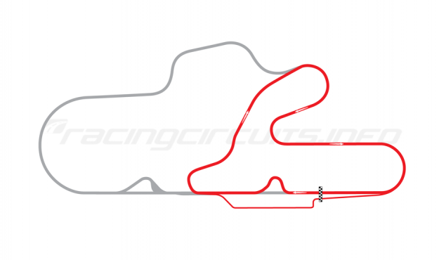 Map of La Plata, Short circuit + 1 chicane 2005 to date