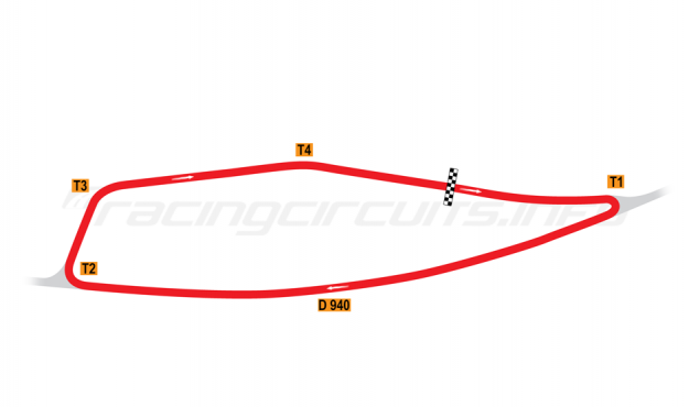 Map of La Châtre, Grand Prix Circuit 1956-77