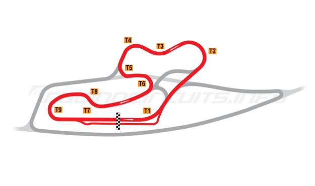 Map of La Châtre, School Circuit 1978-95