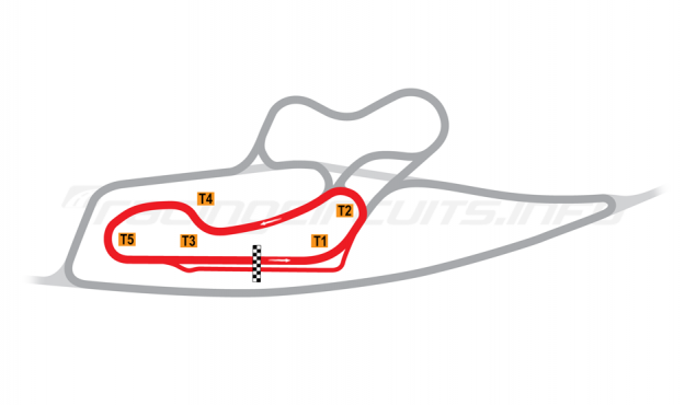 Map of La Châtre, Short School Circuit 2001 to date