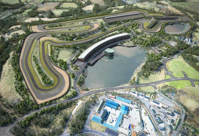 An artist's impression of the new Lake Torrent circuit from the air
