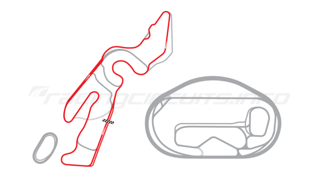 Map of Las Vegas Motor Speedway, Outfield Full Road Course 2005