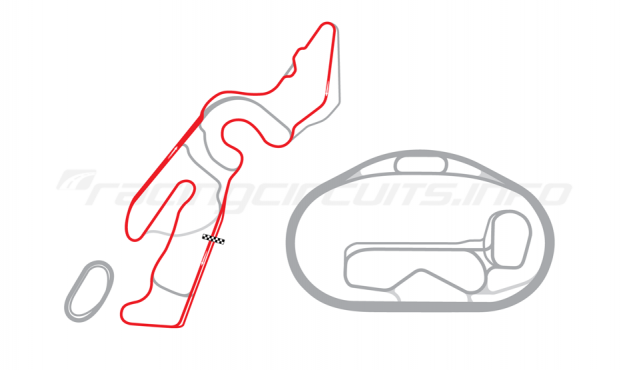 Map of Las Vegas Motor Speedway, Outfield Full Road Course 2006 to date